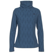 The North Face Novelty Glacier Pullover Womens Mid Layer, Cosmic Blue Arrows Jacquard, medium