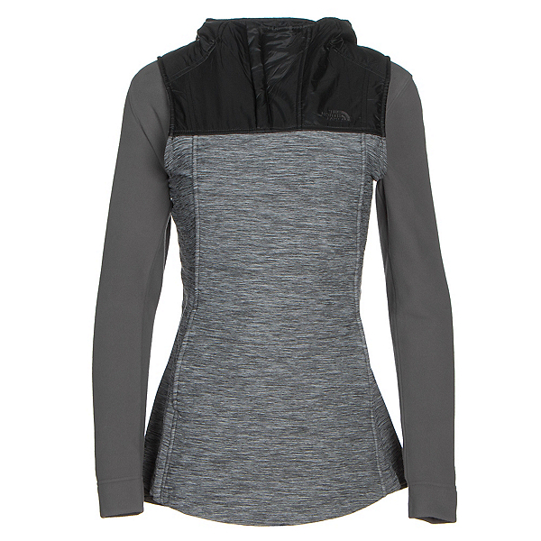 The North Face Pseudio Tunic Womens Vest, TNF Dark Grey Heather-TNF Blac, 600
