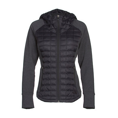 The North Face Endeavor ThermoBall Womens Jacket, TNF Black-TNF Black Heather, viewer