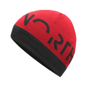 The North Face Youth Anders Beanie Kids Hat, TNF Black-TNF Red, medium