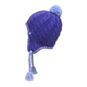 The North Face Girls Fuzzy Ear Flap Beanie, Lapis Blue-Grapemist Blue, medium