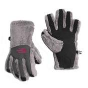 The North Face Denali Thermal Etip Girls Gloves, Metallic Silver, medium
