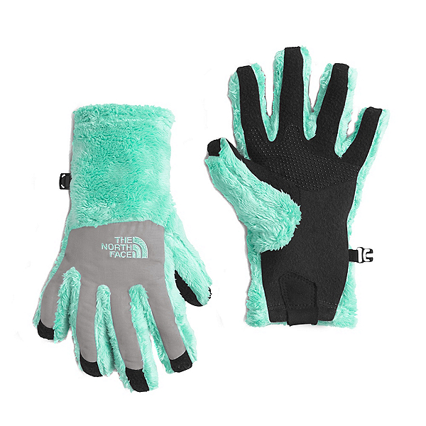 The North Face Denali Thermal Etip Girls Gloves, Ice Green, 600
