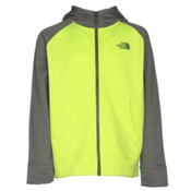 The North Face Boys Surgent Full Zip Hoodie, Safety Green, medium