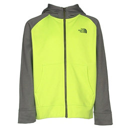The North Face Boys Surgent Full Zip Hoodie (Previous Season), Safety Green, 256