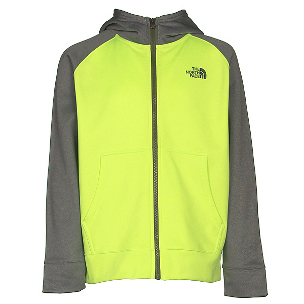 The North Face Boys Surgent Full Zip Hoodie, Safety Green, 600