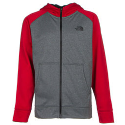 The North Face Boys Surgent Full Zip Hoodie, TNF Medium Grey Heather, 256