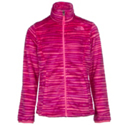 The North Face Osolita Girls Jacket, Roxbury Pink Wavy Stripe, medium