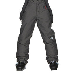 The North Face Snowquest Suspender Kids Ski Pants, TNF Medium Grey Heather, 256