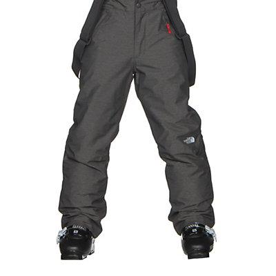 The North Face Snowquest Suspender Kids Ski Pants, TNF Medium Grey Heather, viewer