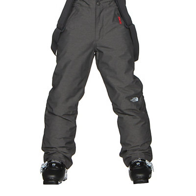 The North Face Snowquest Suspender Kids Ski Pants, TNF Medium Grey Heather, viewer