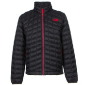 The North Face Boys ThermoBall Full Zip Jacket, TNF Black-TNF Red, medium