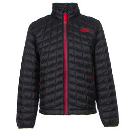 The North Face Boys ThermoBall Full Zip Jacket, TNF Black-TNF Red, 256