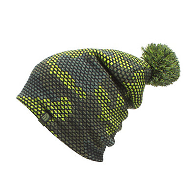 The North Face Youth Ski Tuke Kids Hat, Chive Green Mesh Camo, viewer