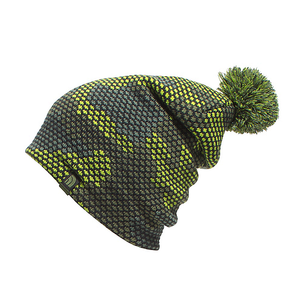 The North Face Youth Ski Tuke Kids Hat (Previous Season), Chive Green Mesh Camo, 600
