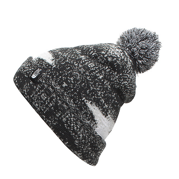 The North Face Youth Ski Tuke Kids Hat, TNF Black Static Print, 600