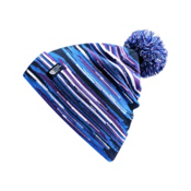 The North Face Youth Ski Tuke Kids Hat, Cosmic Blue Fast Stripe, medium