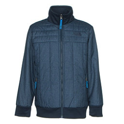 The North Face Boys Reversible Yukon Jacket, Cosmic Blue Denim Print, 256