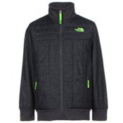 The North Face Boys Reversible Yukon Jacket, Graphite Grey Pixelated Heathe, medium