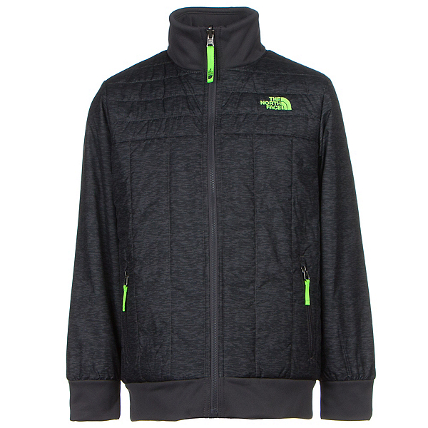 The North Face Boys Reversible Yukon Jacket, Graphite Grey Pixelated Heathe, 600
