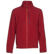 The North Face Cap Rock Full Zip Boys Jacket, TNF Red Heather, medium