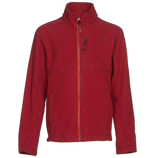 The North Face Cap Rock Full Zip Boys Jacket, TNF Red Heather, 600