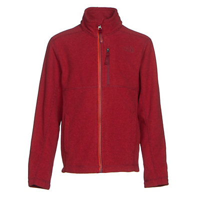 The North Face Cap Rock Full Zip Boys Jacket, TNF Red Heather, viewer