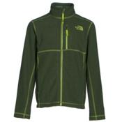 The North Face Cap Rock Full Zip Boys Jacket, Terrarium Green Heather, medium