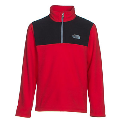 The North Face Glacier 1/4 Zip Boys Midlayer, TNF Red, viewer