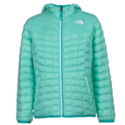 The North Face Reversible ThermoBall Hoodie Girls Midlayer, Ice Green, medium