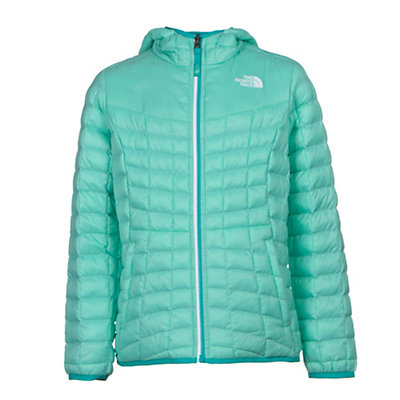 The North Face Reversible ThermoBall Hoodie Girls Midlayer, Ice Green, viewer