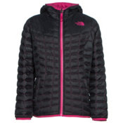 The North Face Reversible ThermoBall Hoodie Girls Midlayer, TNF Black, medium