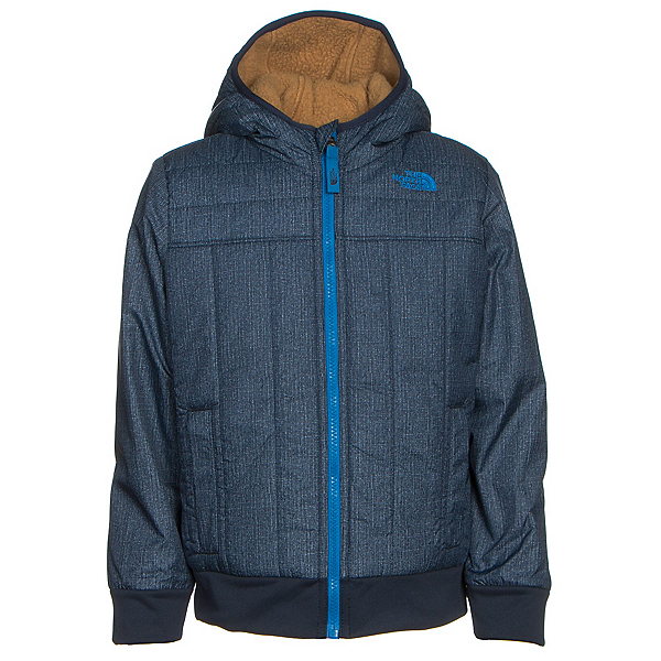 The North Face Reversible Yukon Hoodie Toddler Jacket, Cosmic Blue Denim Print, 600