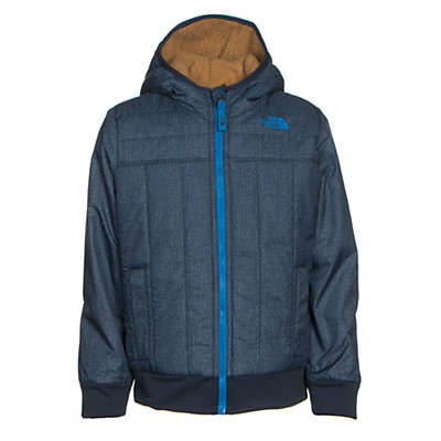 The North Face Reversible Yukon Hoodie Toddler Jacket, Cosmic Blue Denim Print, viewer