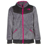 The North Face Oso Hoodie Girls Midlayer, Metallic Silver, medium