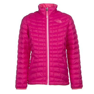 The North Face Girls ThermoBall Full Zip Jacket, Cabaret Pink, viewer