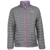 The North Face Girls ThermoBall Full Zip Jacket, Metallic Silver, medium