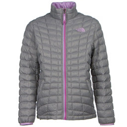 The North Face Girls ThermoBall Full Zip Jacket (Previous Season), Metallic Silver, 256