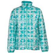 The North Face Girls ThermoBall Full Zip Jacket, Ice Green Geo Print, medium