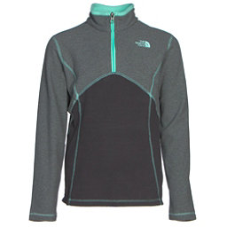 The North Face Glacier 1/4 Zip Girls Midlayer, TNF Medium Grey Heather, 256