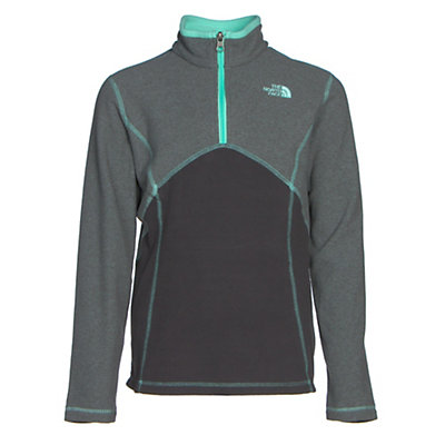 The North Face Glacier 1/4 Zip Girls Midlayer, Grapemist Blue, viewer