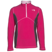 The North Face Glacier 1/4 Zip Girls Midlayer, Cabaret Pink, medium