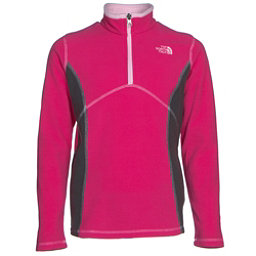 The North Face Glacier 1/4 Zip Girls Midlayer, Cabaret Pink, 256