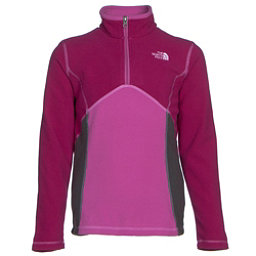 The North Face Glacier 1/4 Zip Girls Midlayer, Roxbury Pink, 256