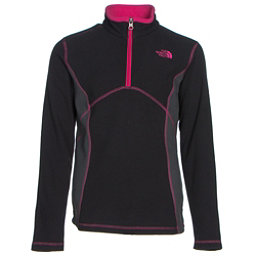 The North Face Glacier 1/4 Zip Girls Midlayer, TNF Black, 256