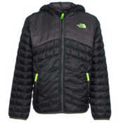 The North Face Reversible ThermoBall Hoodie Boys Midlayer, TNF Black, medium