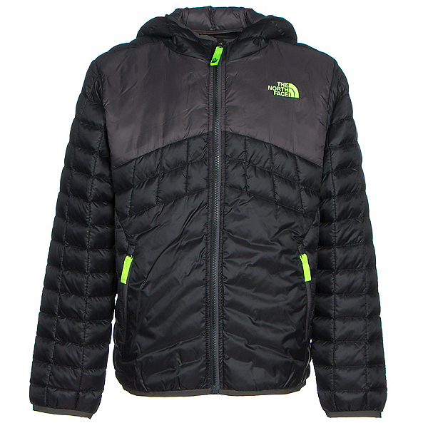 The North Face Reversible ThermoBall Hoodie Boys Midlayer, TNF Black, 600