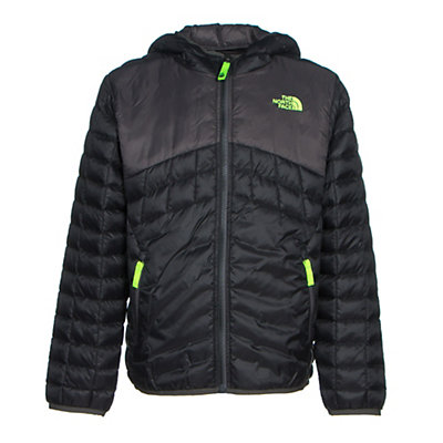 The North Face Reversible ThermoBall Hoodie Boys Midlayer, TNF Black, viewer