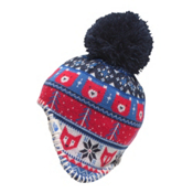 The North Face Baby Faroe Beanie Toddlers Hat, Cosmic Blue-TNF Red, medium