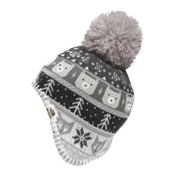 The North Face Baby Faroe Beanie Toddlers Hat, Metallic Silver-TNF White, medium